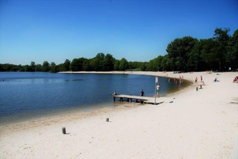 het 'zwembad' vlakbij camping Buitenplaats Drenthe