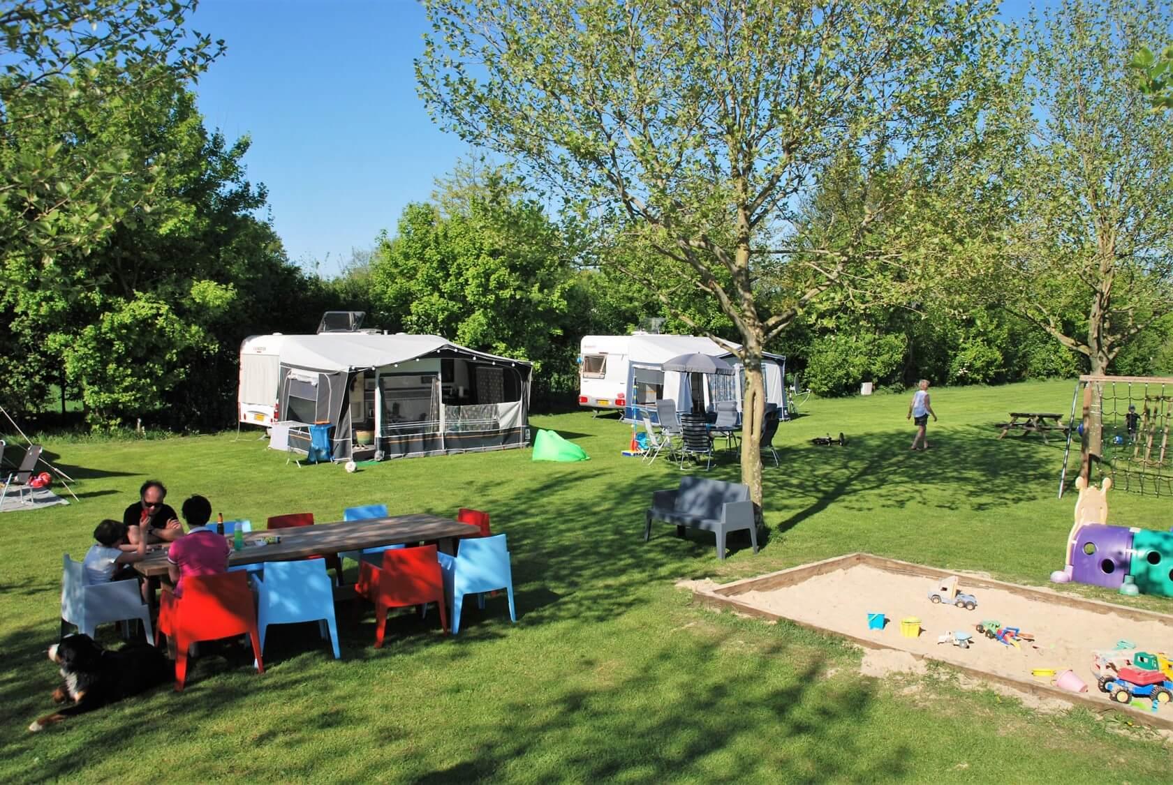 Huurcaravan op camping Buitenplaats Drenthe