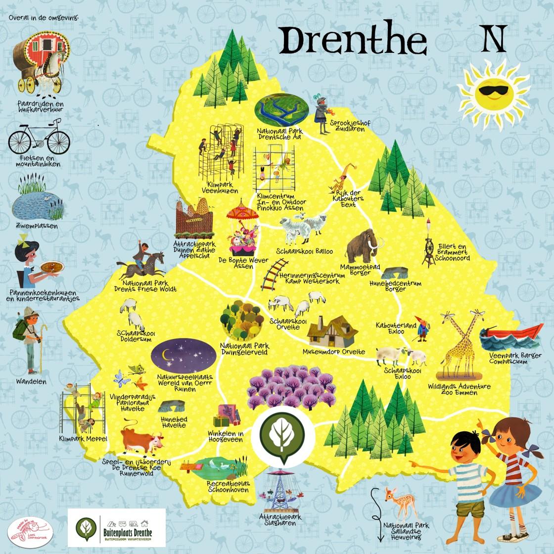 kaart Drenthe