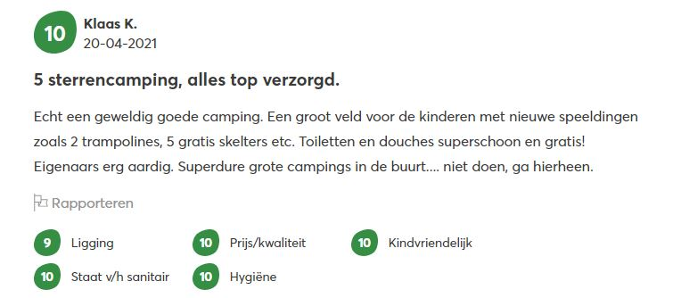 review camping